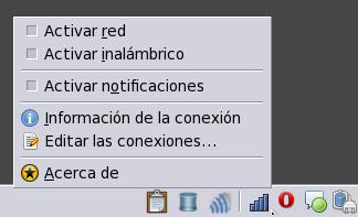 Icono de control de //NetworkManager// (Fedora 12)