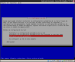 Configuración manual de la red.