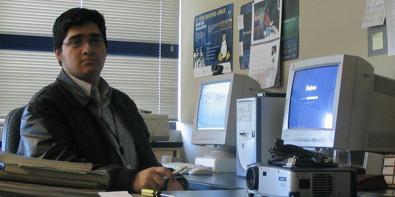 My self, long ago when I had a job...